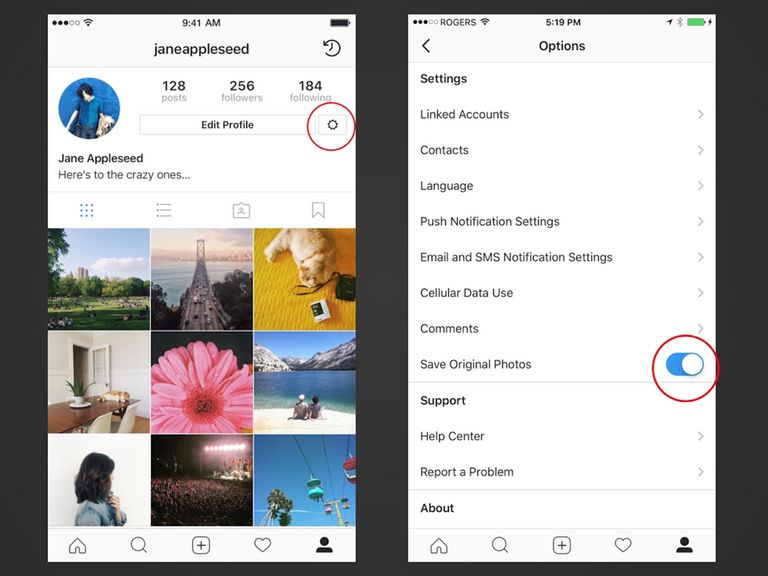 how to put photos in instagram