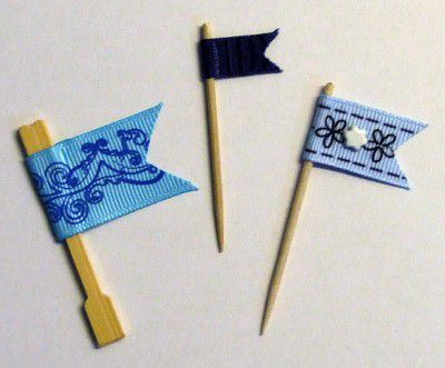 Using Ribbon to Make Mini Flags for Scrapbook Page Embellishments