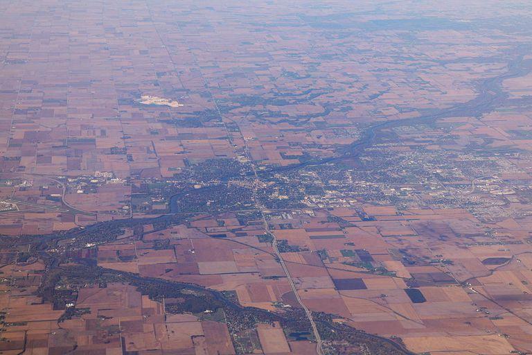 Aerial View of Kankakee, Illinois