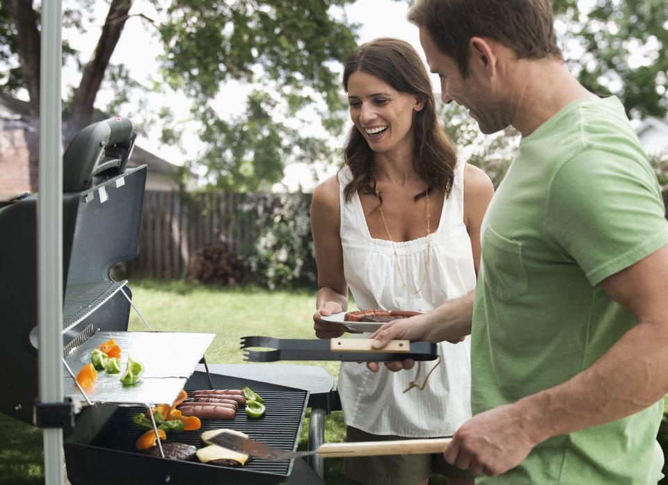 Couple at the grill