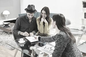 Couple signing closed-end credit application