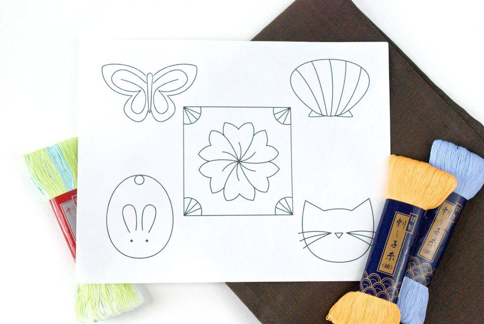 Embroider Small Sashiko Designs