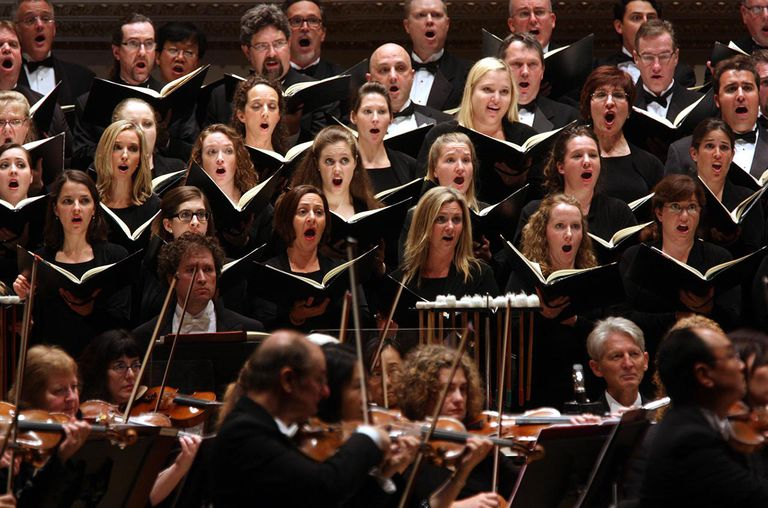 Riccardo Muti leading the Chicago Symphony Orchestra in Carl Off's 'Carmina Burana.'