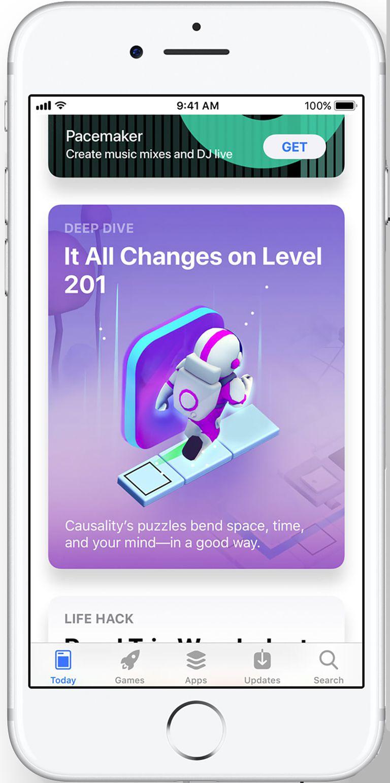 Reka bentuk semula iOS App Store iOS 11