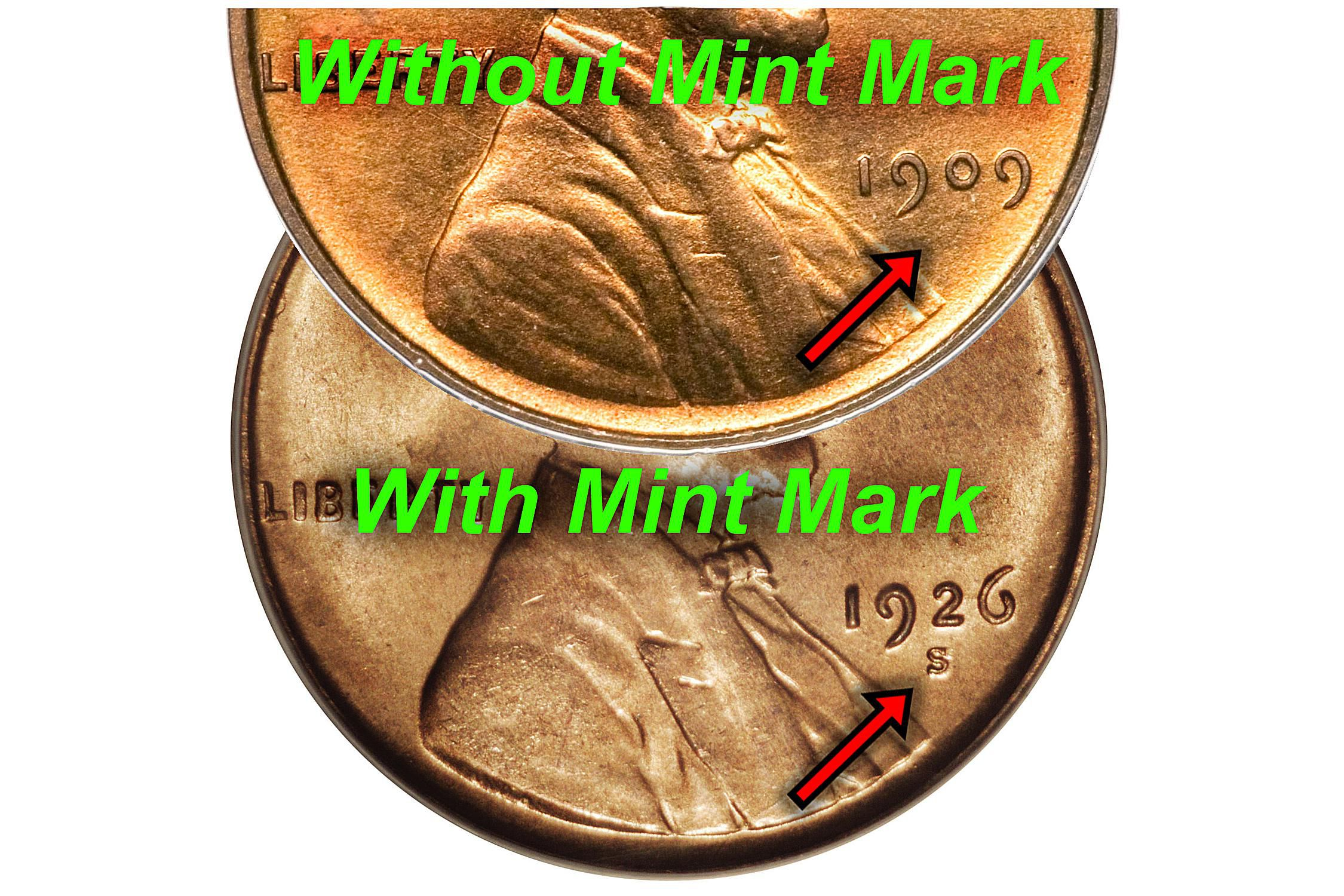 No Mint Mark on Lincoln Pennies