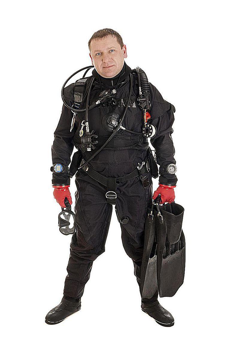 Drysuit Diver, Diver White Background, Technical Dive Gear
