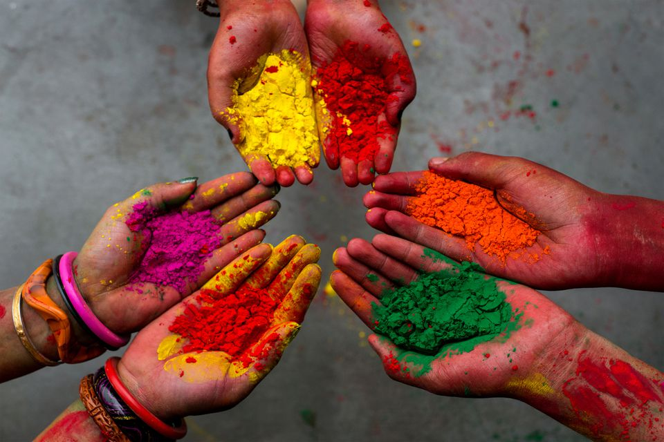 Holi colors.
