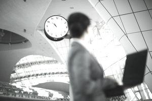Business woman&clock