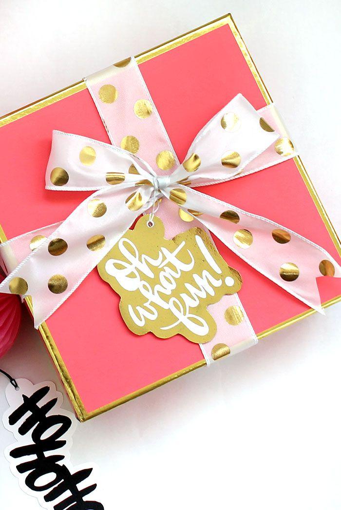 DIY Foil Christmas Gift Tags