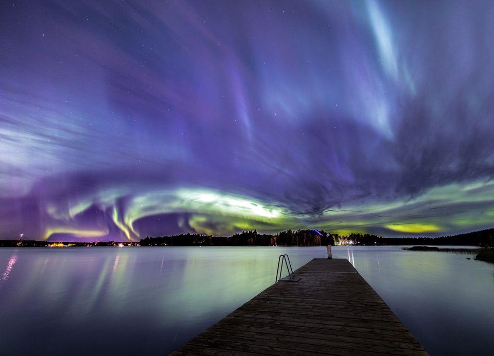 Aurora Borealis / Northern Lights seen in Tampere, Finland.
