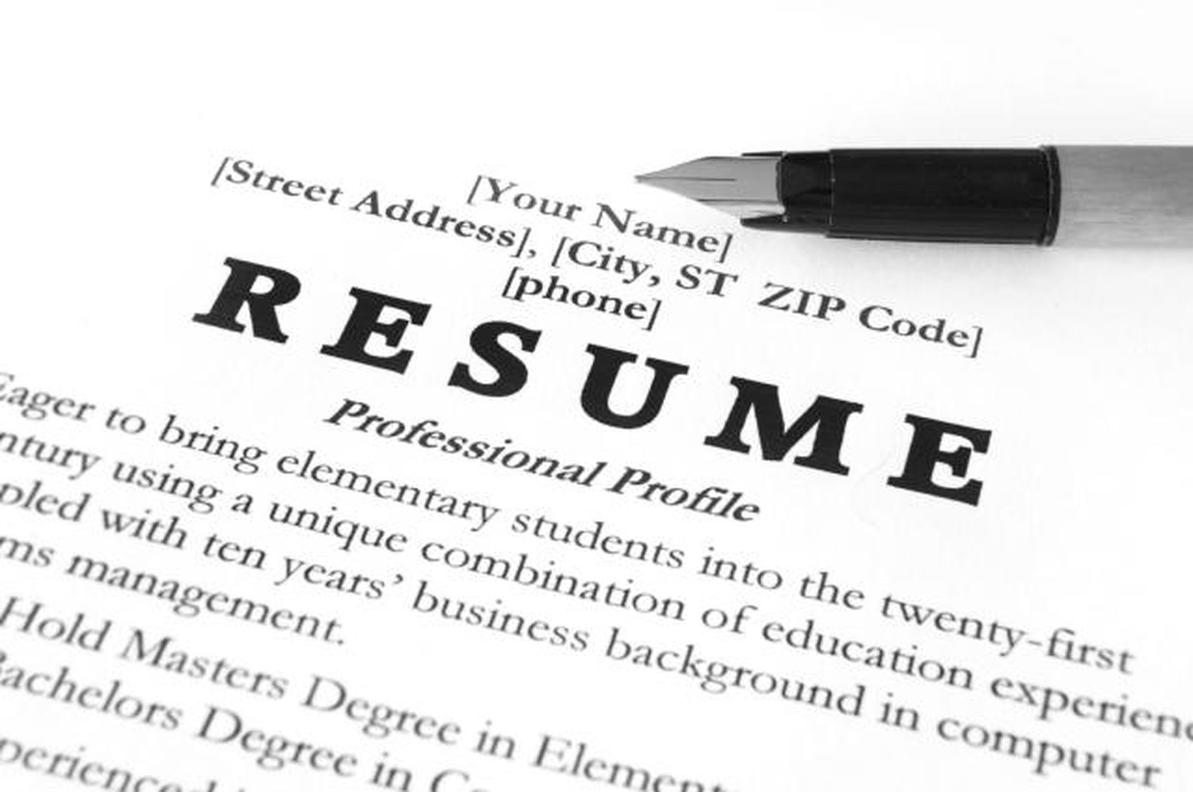 exles of each part of a resume