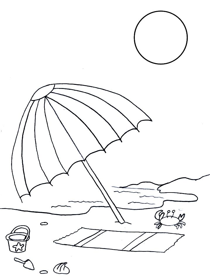 237 free printable summer coloring pages for kids - Summer Coloring Page