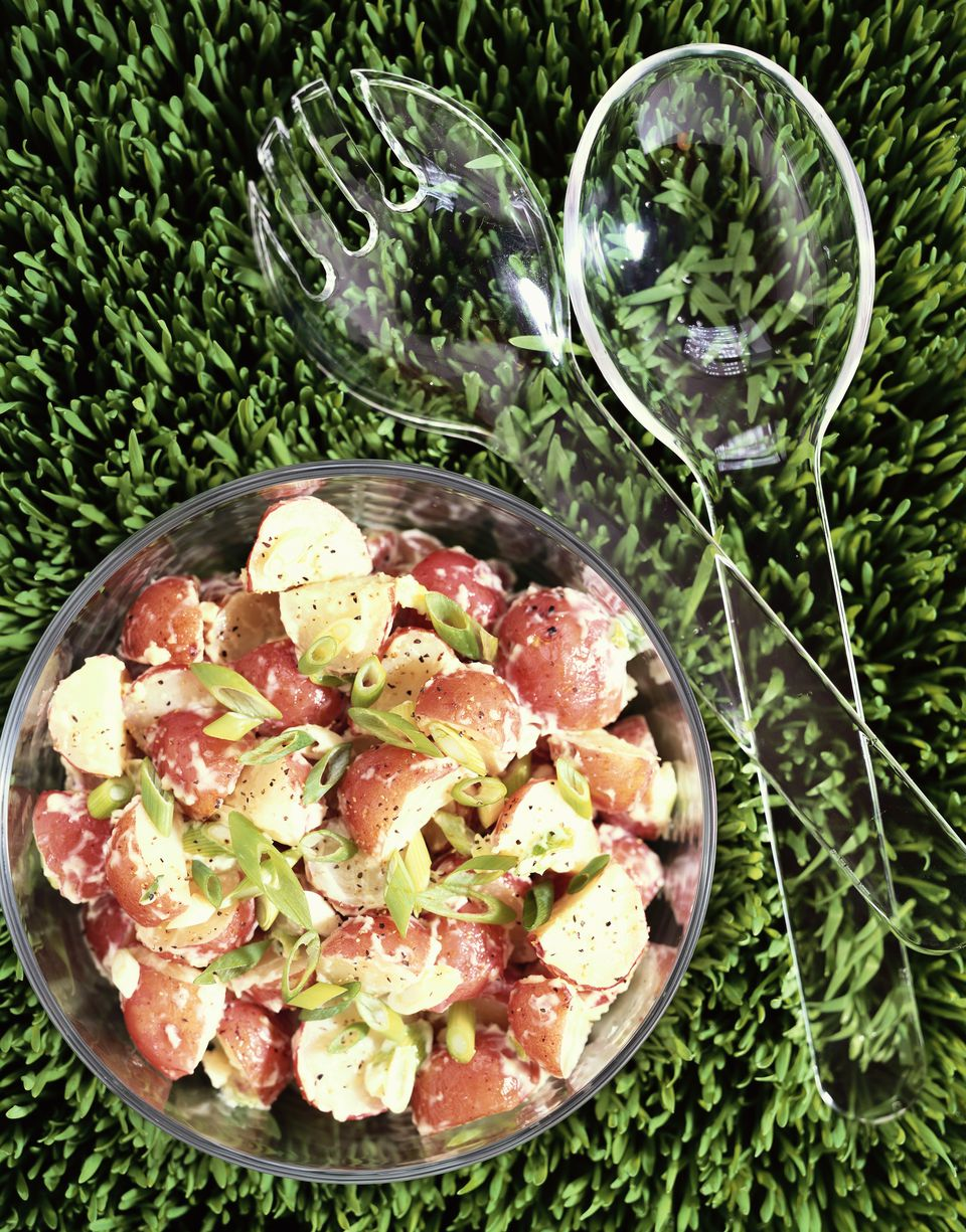 red potato salad with green onions