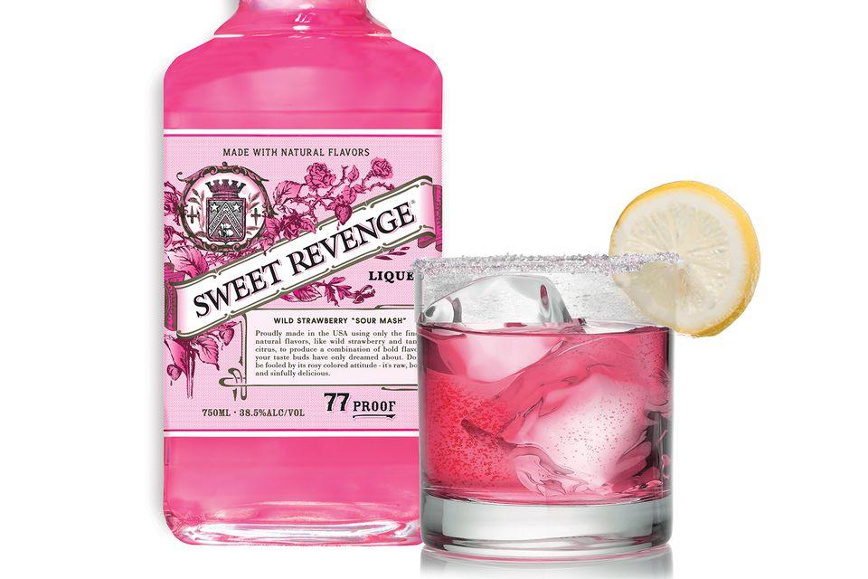 Sweet Revenge Liqueur's Strawberry Cure Cocktail