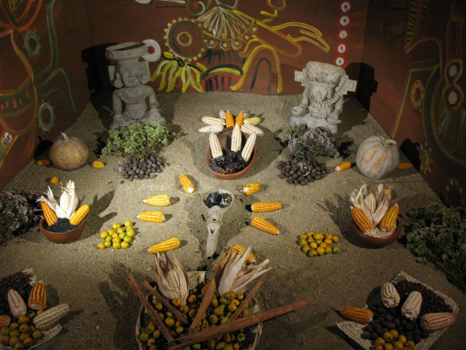 Recreation of a pre-hispanic offering for the dead
