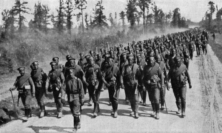 Russian Troops Marching
