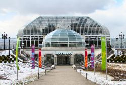 Entrance to Phipps Conservatory & Botanical Gardens in Pittsburgh, Pennsylvania