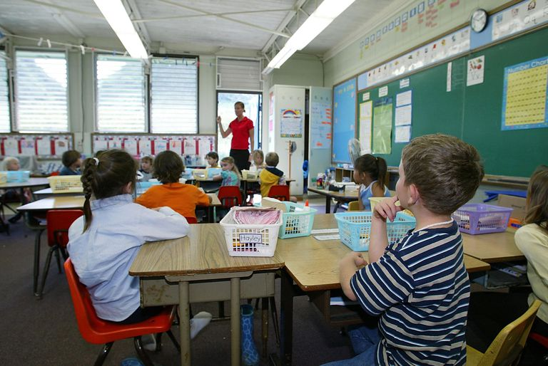 A Kindergarten Teacher and her Class