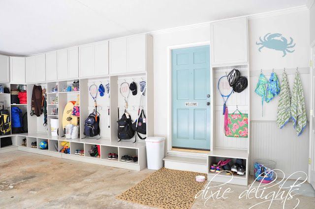 lockers blog sunny my shelves side organized mudroom the open garage up new