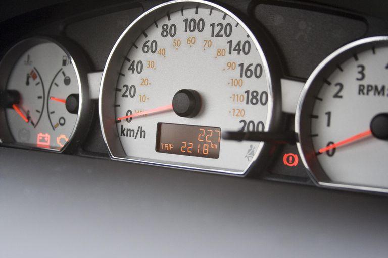 227km on new car odometer