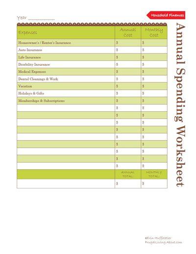 Worksheet Helps Set Financial Goals
