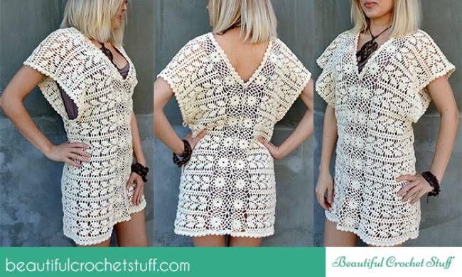 Leaf Tunic Free Crochet Pattern