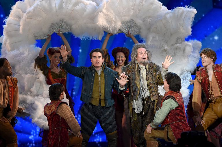 The Broadway cast of Something Rotten