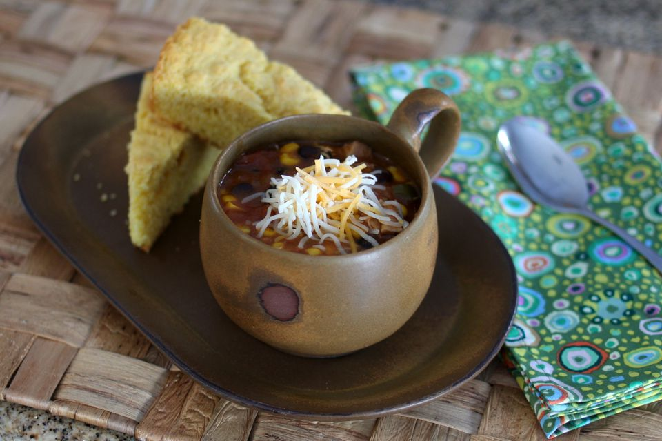 Slow Cooker Tex Mex Chicken Soup With Beans