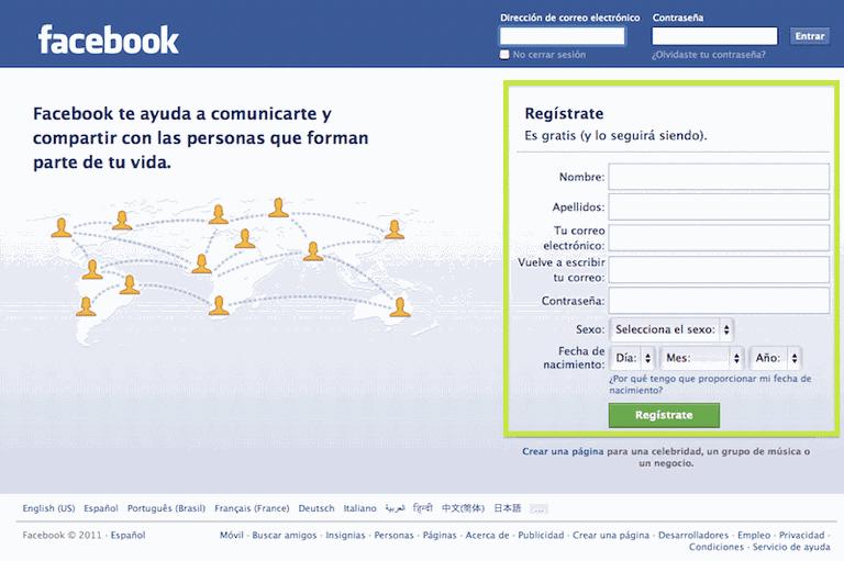 Resultado de imagen para como crear una cuenta en facebook