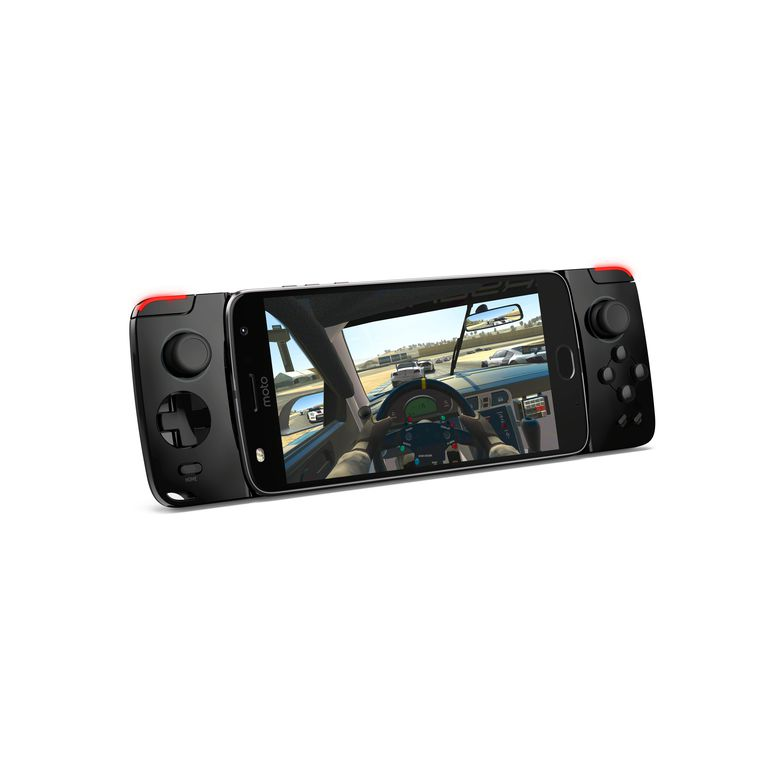 The Moto GamePad Mod with game on smartphone display