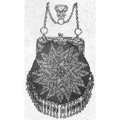 Vintage Beaded Crochet Bag