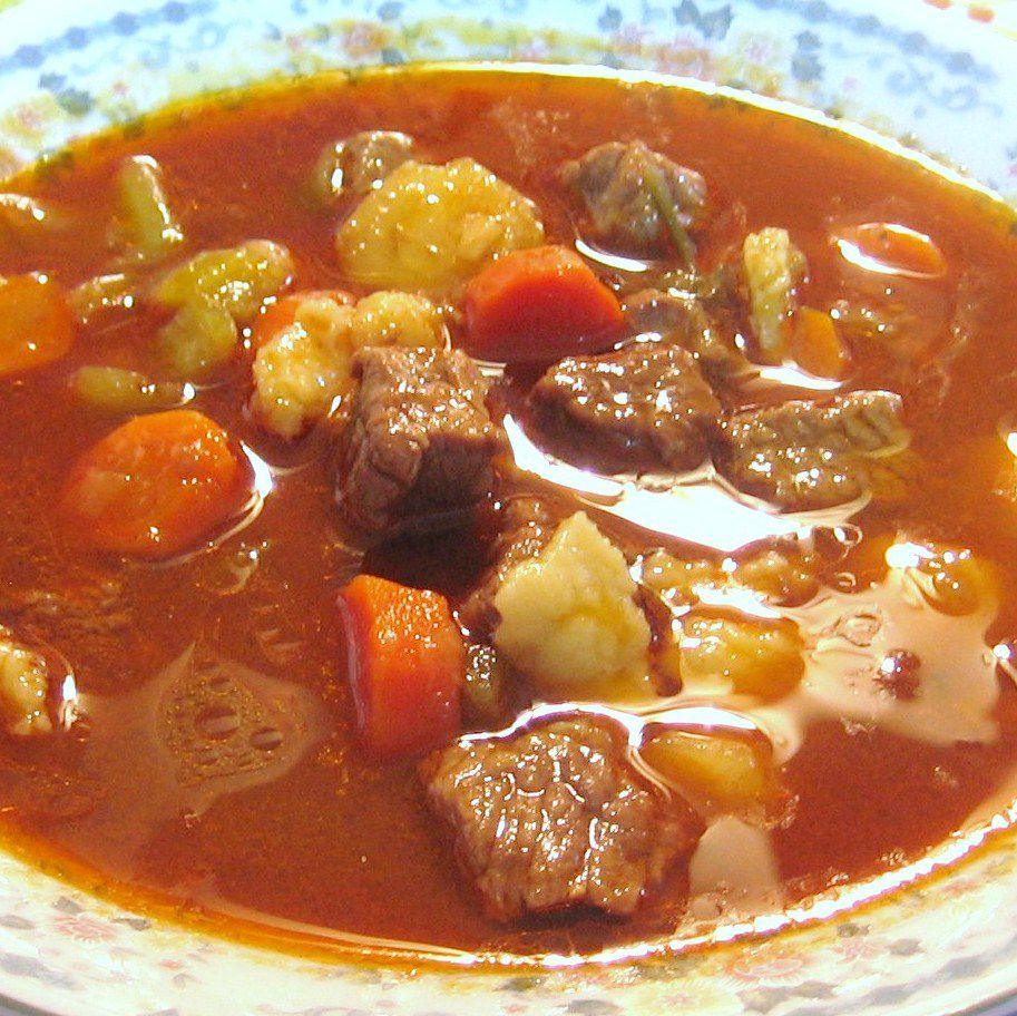 Hungarian Goulash Soup or Gulyas Leves