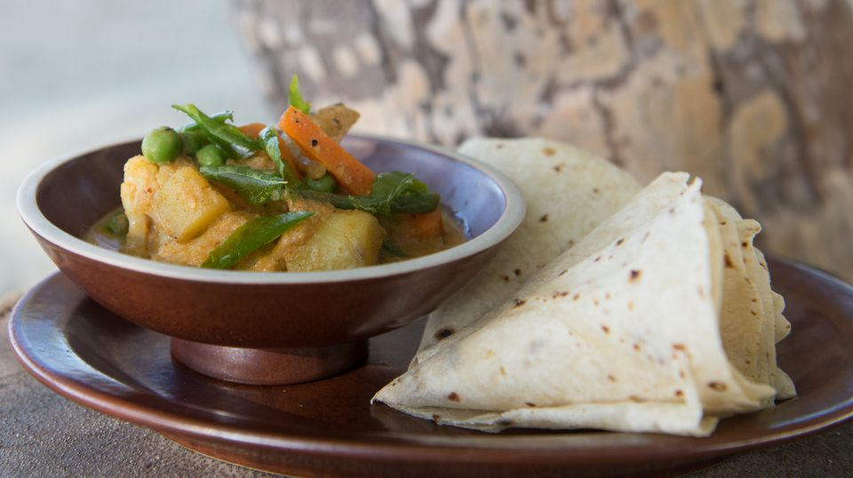 Massaman Curry with Chapatti