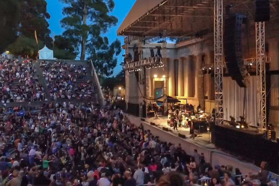 Evening at Berkeley's Greek Theatre