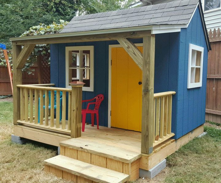 Do It Yourself Home Design: 12 Free Playhouse Plans The Kids Will Love