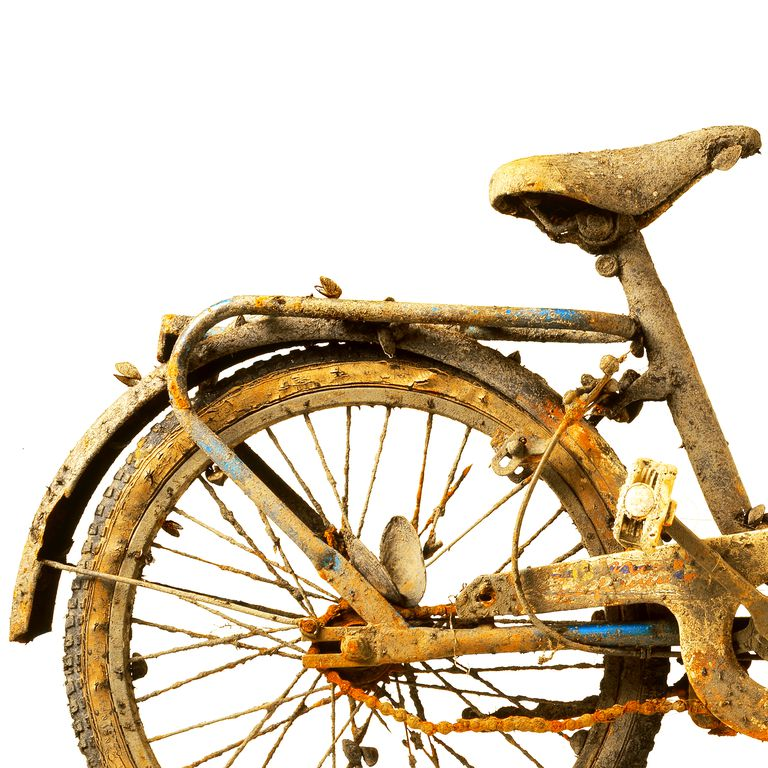 Rust is caused by a chemical reaction with iron.