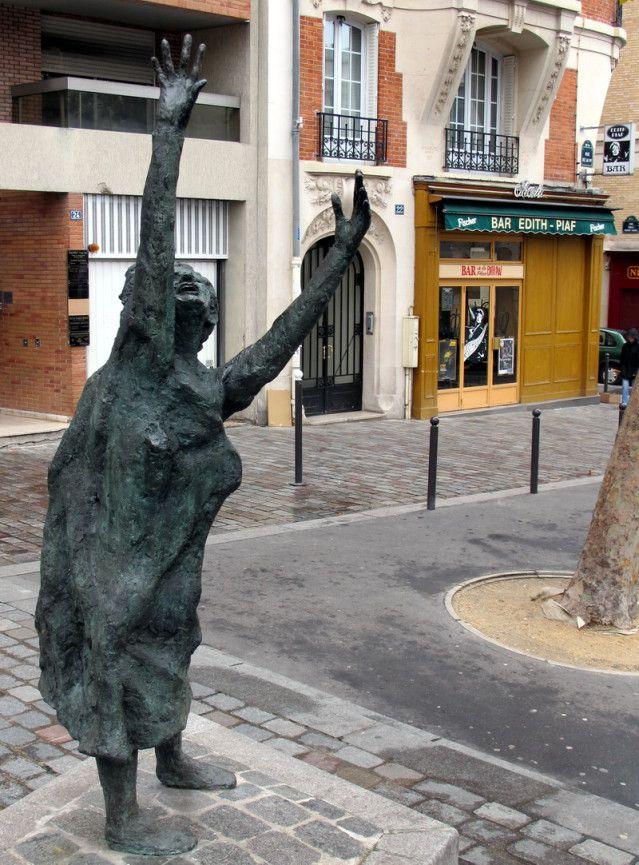 The statue of Edith Piaf near Porte de Bagnolet has won both admirers and detractors.