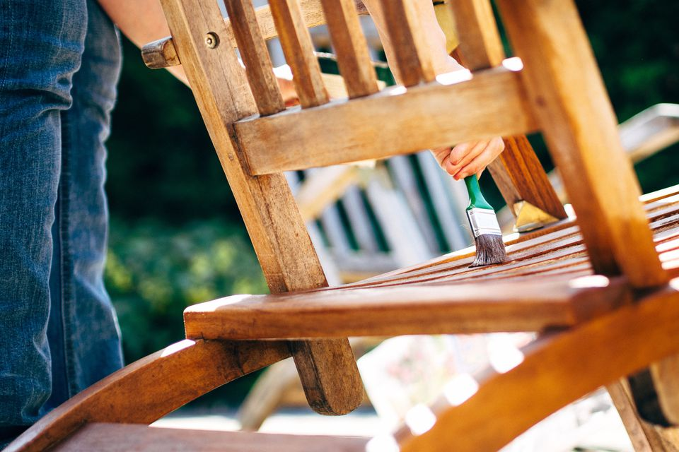 Painting wood chair
