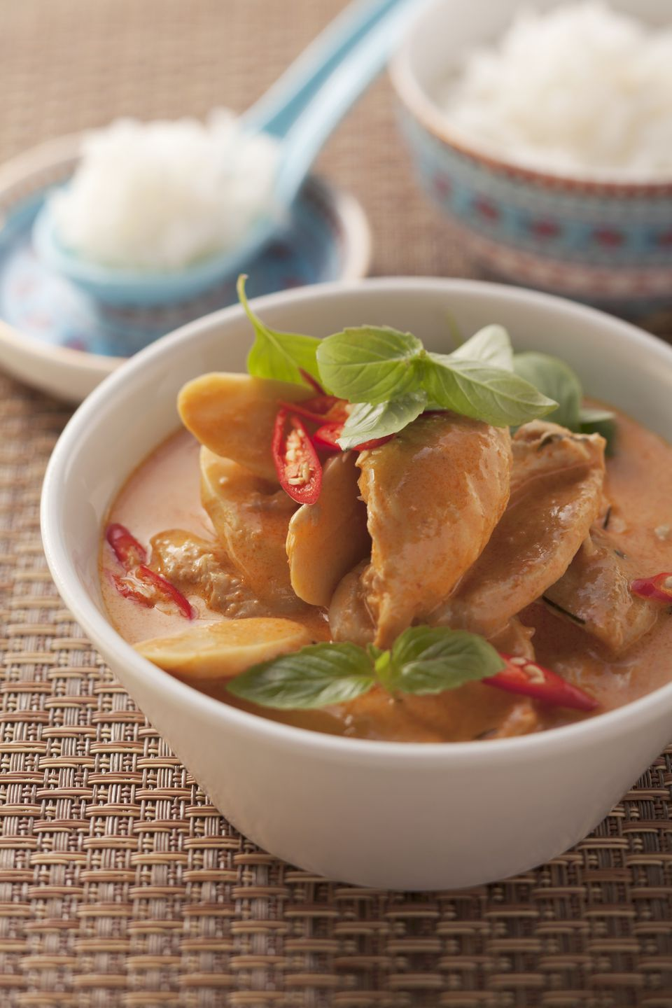 Thai chicken curry and rice