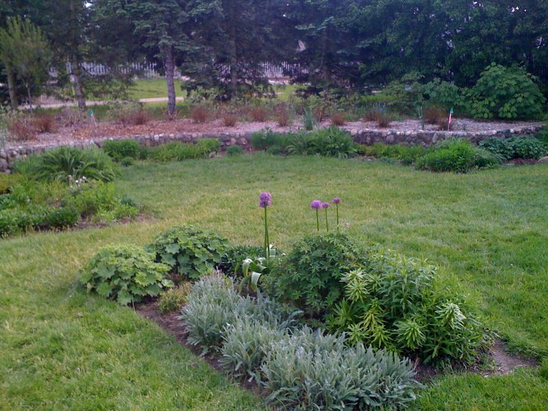 One of many display gardens at Matthaei Botanical Gardens