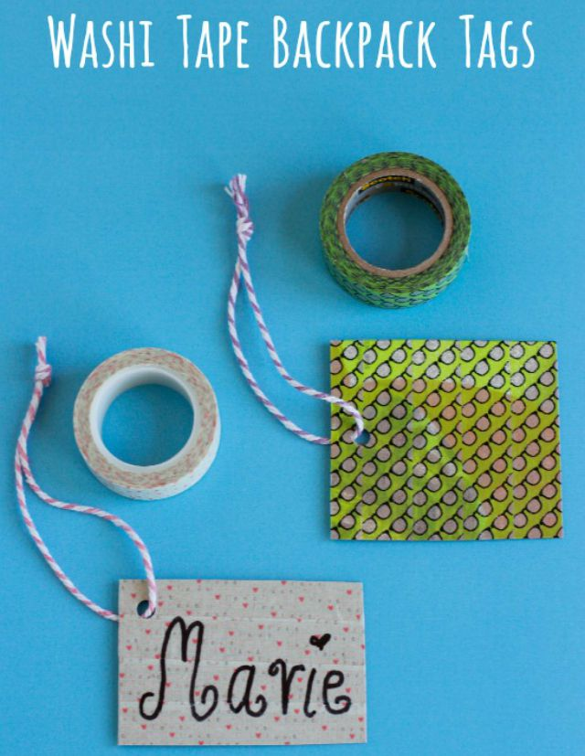 Washi Tape Backpack Tags