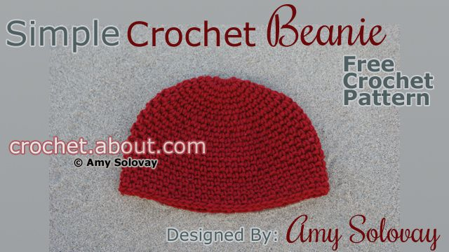 Simple Crochet Beanie Hat With Other Accessories to Match