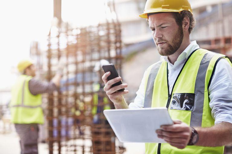 Man on construction site