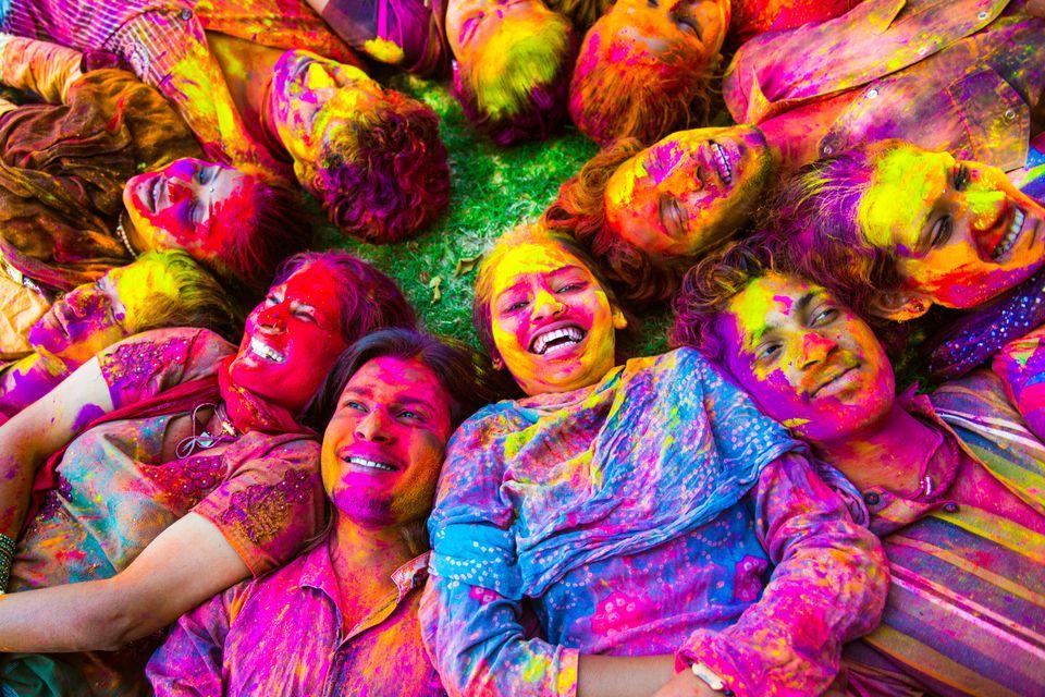 Indian Friends Celabrating Holi