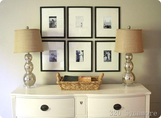 picture frames - Dollar Store Frames