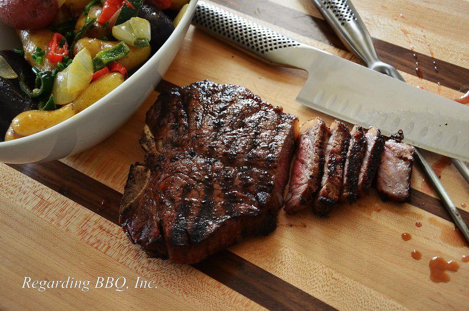 Basil-Oregano T-Bone Steaks