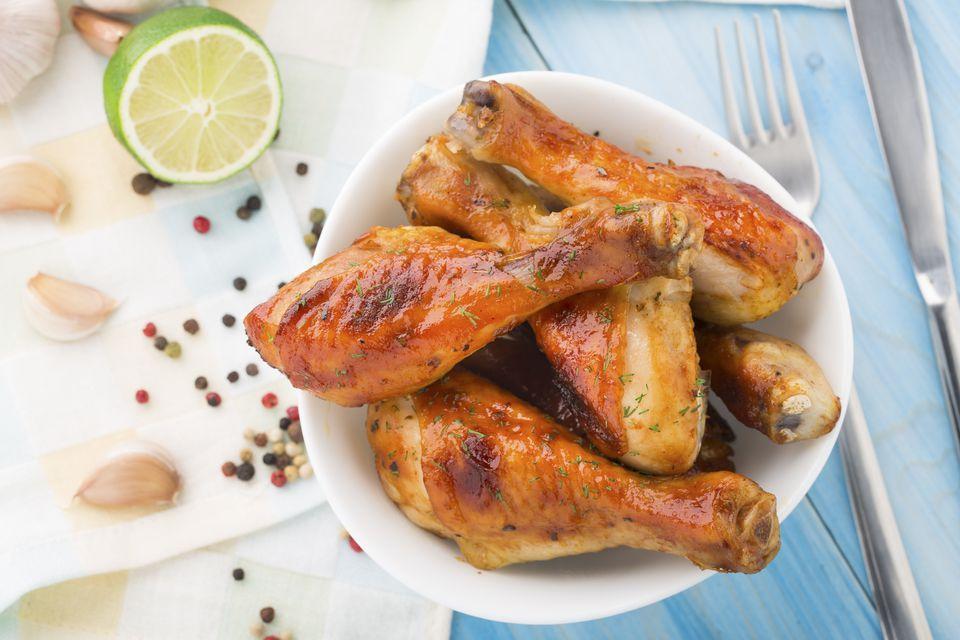 Roasted chicken legs