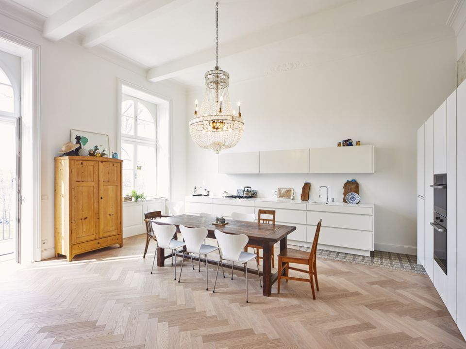 Parquet Living Room Flooring