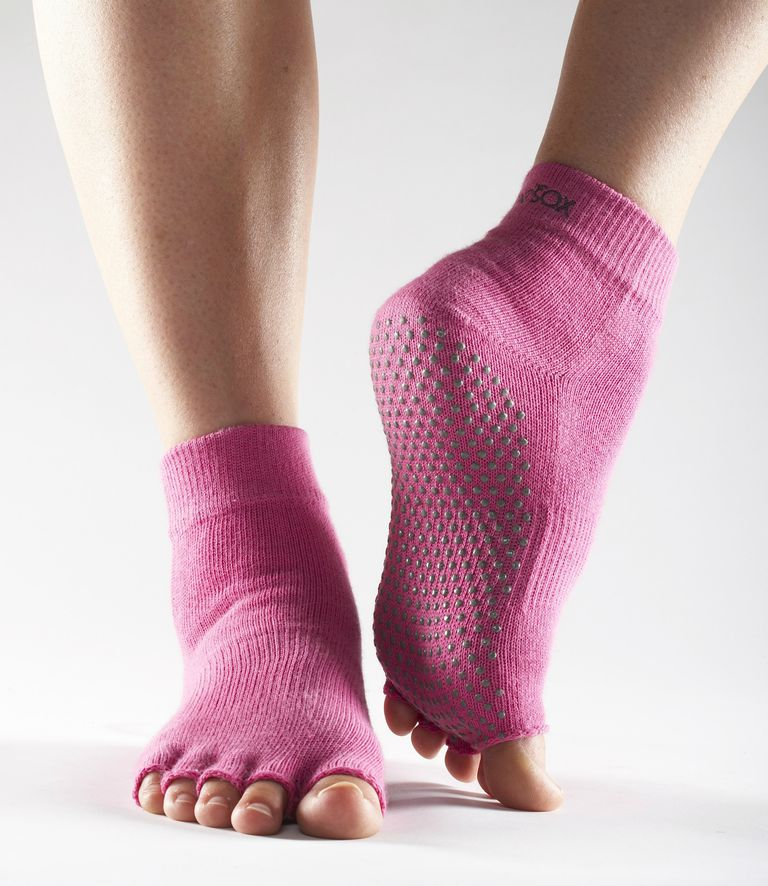 Hot Pink Half Toe ToeSox