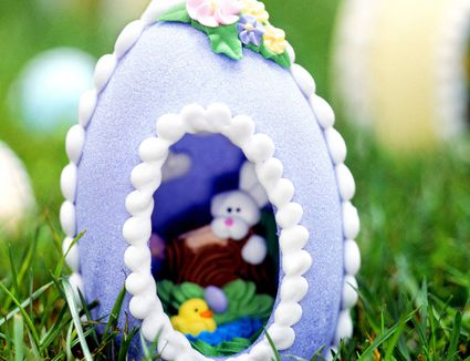 Image result for sugared egg with scenes